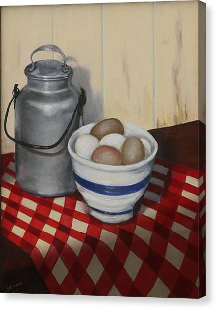 Old Fashioned Breakfast Canvas Print