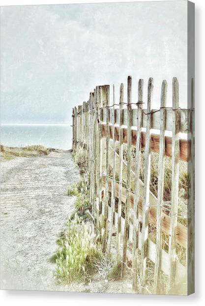 Old Fence To The Sea  Canvas Print