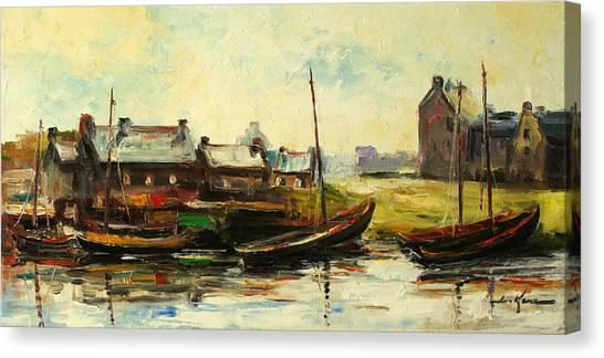 Old Fisherman's Village Canvas Print