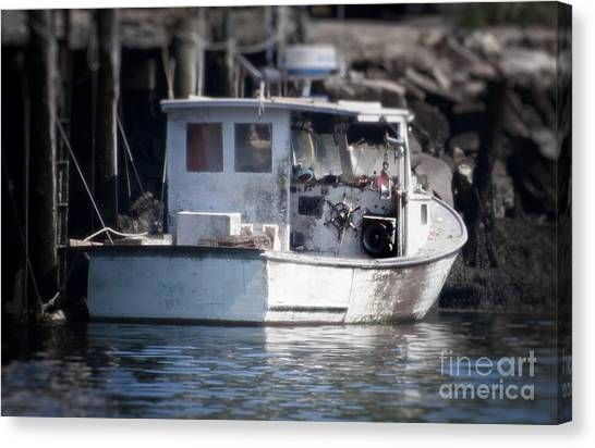 Old Fishing Boat Canvas Print by Loriannah Hespe