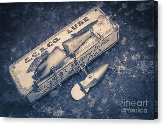 Trout Canvas Print - Old Fishing Lures by Edward Fielding