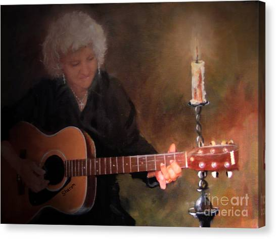 Old Flames Canvas Print by Sharon Burger