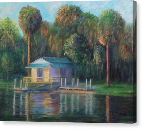 Old Florida Morning At Salt Springs Canvas Print