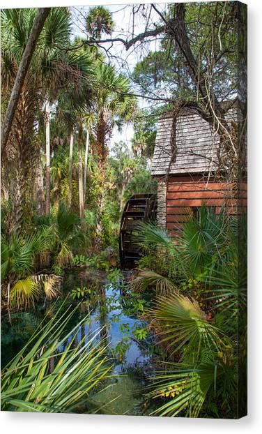 Old Florida Watermill I Canvas Print by W Chris Fooshee