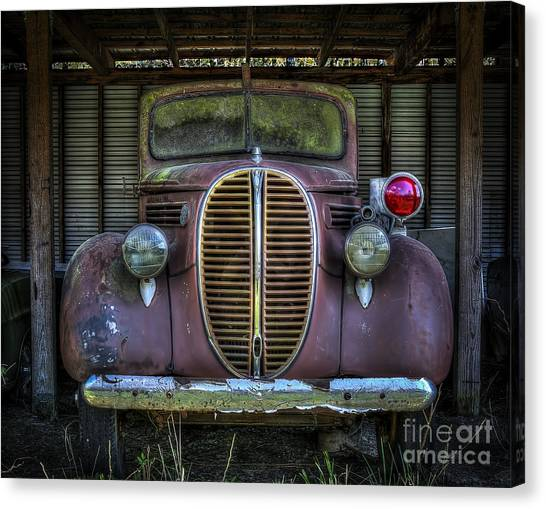 Old Ford Firetruck 2 Canvas Print