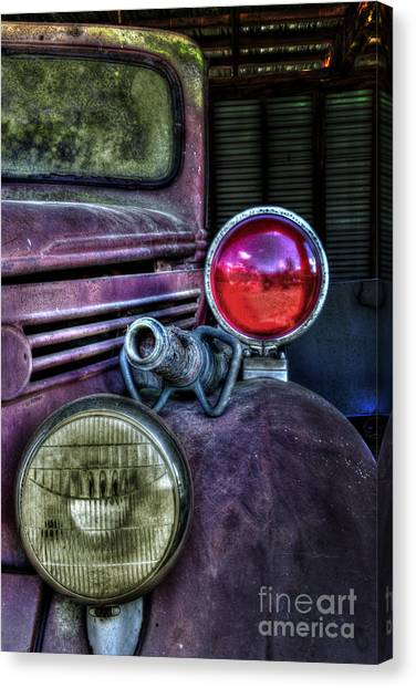 Old Ford Firetruck Canvas Print