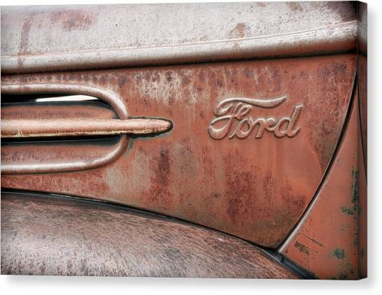 Canvas Print - Old Ford Logo by Steve McKinzie