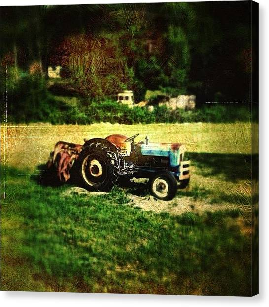 Tractors Canvas Print - Old Ford Tractor by Paul Cutright