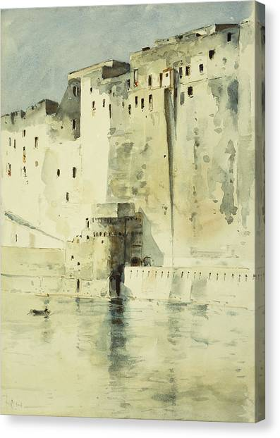 Fanciful Canvas Print - Old Fortress Naples by Childe Hassam