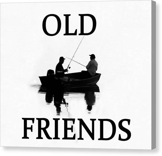 John Boats Canvas Print - Old Friends by David Lee Thompson