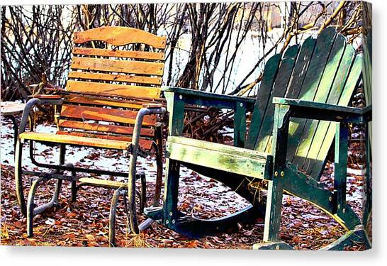 Old Friends In February Sunlight Canvas Print
