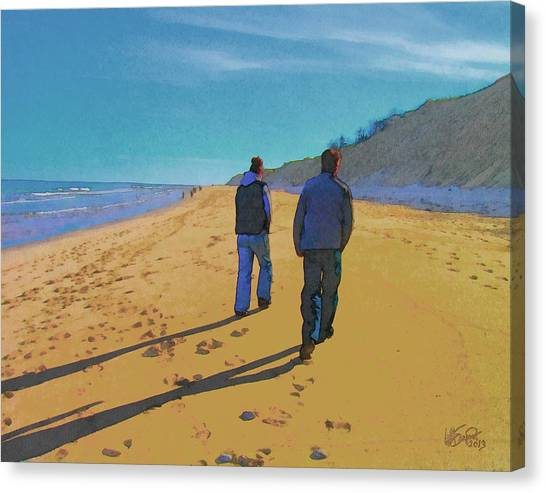 Old Friends Long Shadows Canvas Print