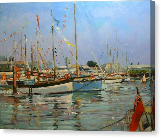 Bunting Canvas Print - Old Gaffers  Yarmouth  Isle Of Wight by Jennifer Wright