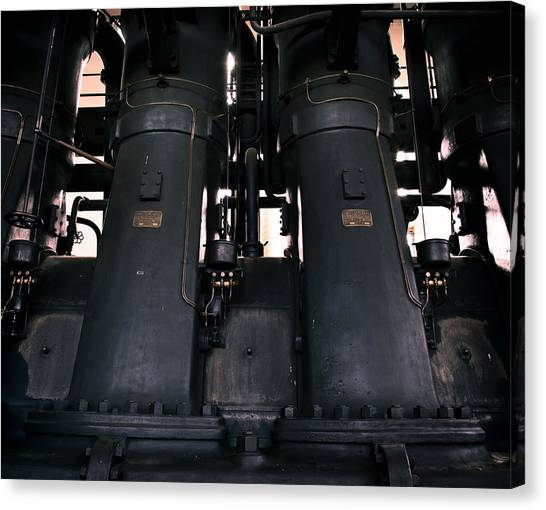 Old Generator Canvas Print by Akos Kozari