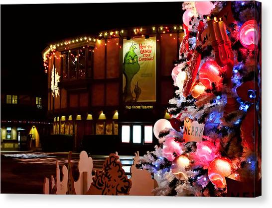 Grinch Canvas Print - Old Globe Christmas by See My  Photos