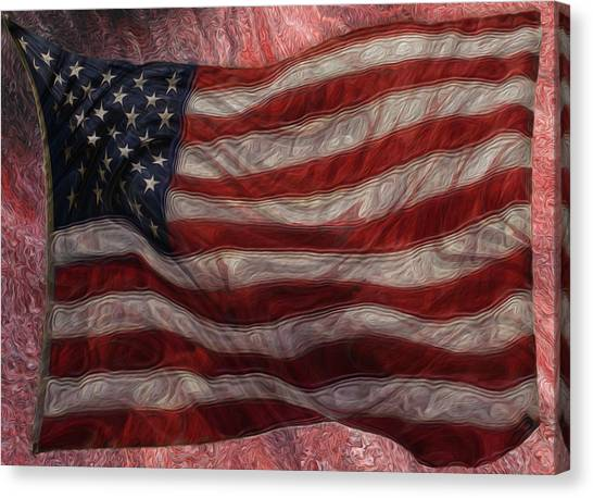 Analog Canvas Print - Old Glory by Jack Zulli
