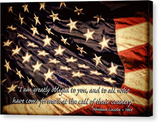Old Glory Military Tribute Canvas Print