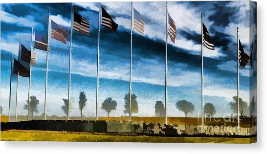 Libertarian Canvas Print - Old Glory-the American Flag by Luther Fine Art