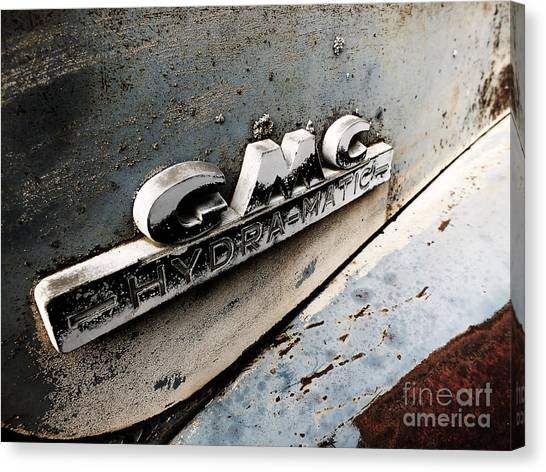 Old Gmc Canvas Print by Kimberly Maiden