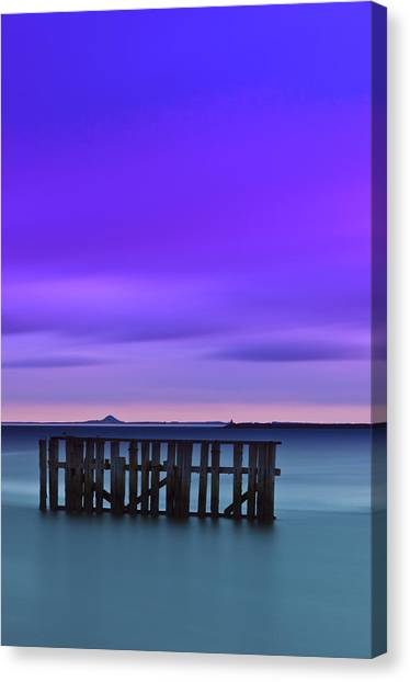 Old Granton Pier Canvas Print