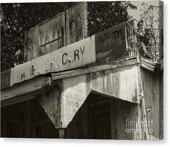 Old Grocery Store Canvas Print