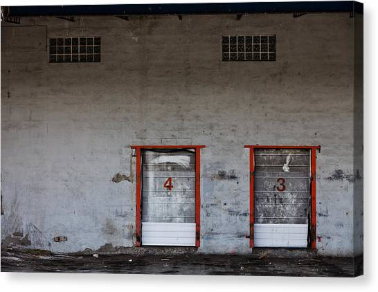 Old Grungy Industrial Garage Door With Graffitis Photograph By