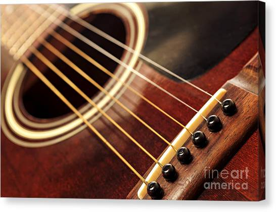 Classical Guitars Canvas Print - Old Guitar by Elena Elisseeva