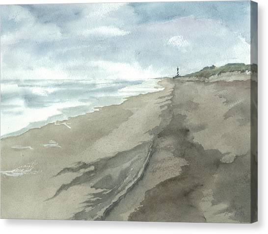 Old Hatteras Light Canvas Print