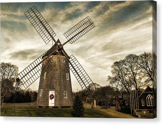 Old Hook Windmill Canvas Print