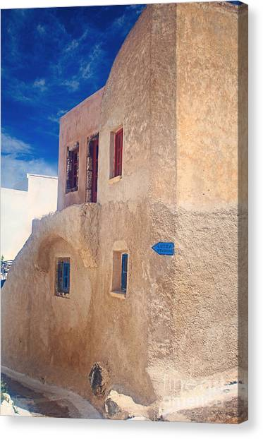Old House In Oia  Canvas Print