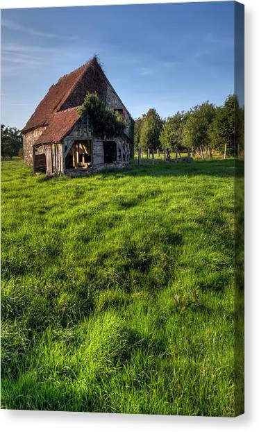 Old House In Summer  Canvas Print by Ioan Panaite