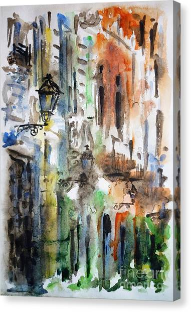 Recommended Canvas Print - Old Houses Of San Juan by Zaira Dzhaubaeva