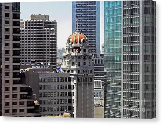 Old Humboldt Bank Building In San Francisco Canvas Print by Susan Wiedmann