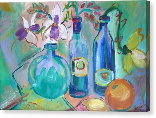 Old Hyacinth Bottle Canvas Print by Brenda Ruark