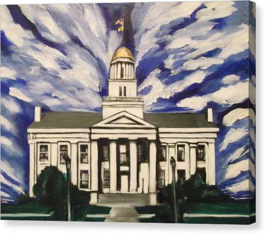 University Of Iowa Canvas Print - Old Iowa Capitol by John Sabey Jr