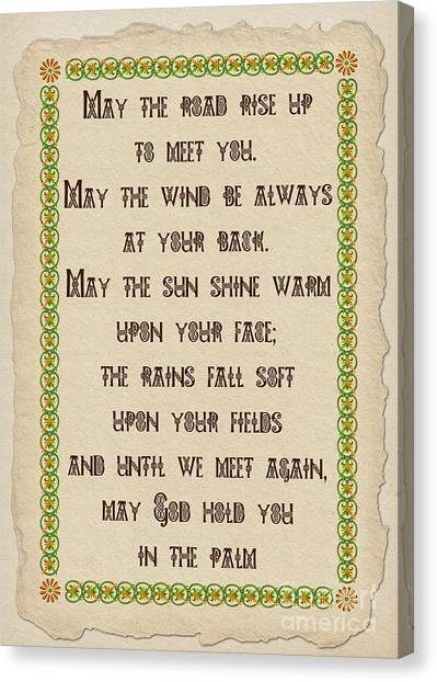 Old Irish Blessing Canvas Print