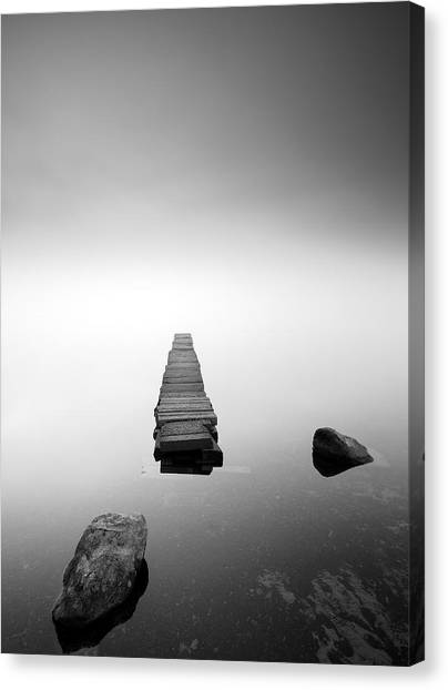 Old Jetty In The Mist Canvas Print