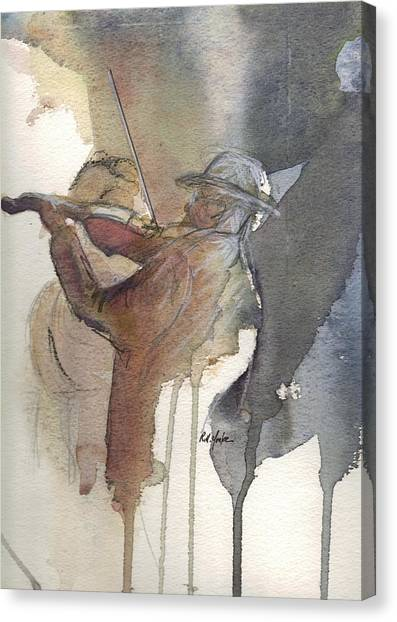 Bluegrass Canvas Print - Old Joe Clark by Robert Yonke