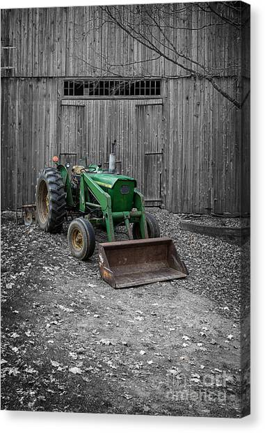 Real Estate Canvas Print - Old John Deere Tractor by Edward Fielding