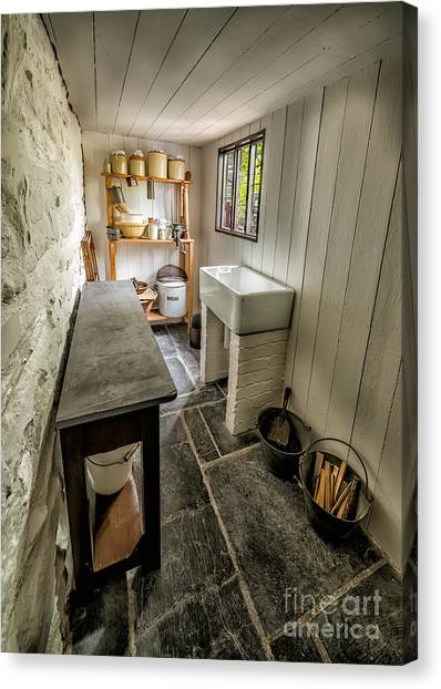 Rolling Pin Canvas Print - Old Kitchen by Adrian Evans