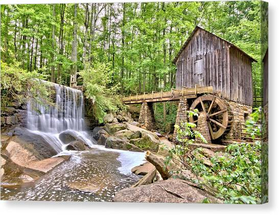 Old Lefler Grist Mill Canvas Print