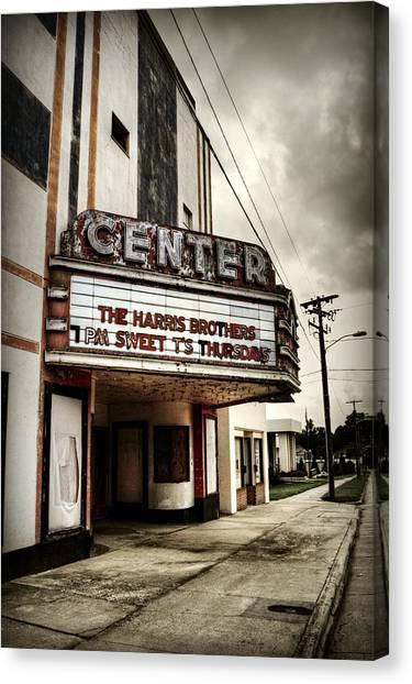 Old Lenoir Nc Movie Theater Canvas Print