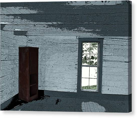 Old Log House Interior Canvas Print