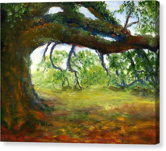 Old Louisiana Plantation Oak Tree Canvas Print