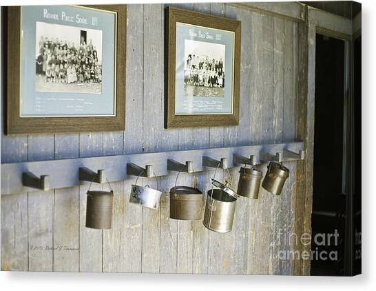 Old Lunch Pails Canvas Print