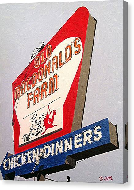 Old Macdonalds Farm Canvas Print by Paul Guyer