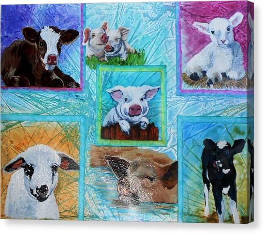Old Macdonalds Nursery Canvas Print by Liz Borkhuis
