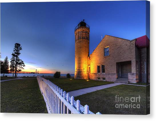 Northern Michigan Canvas Print - Old Mackinac Lighthouse by Twenty Two North Photography