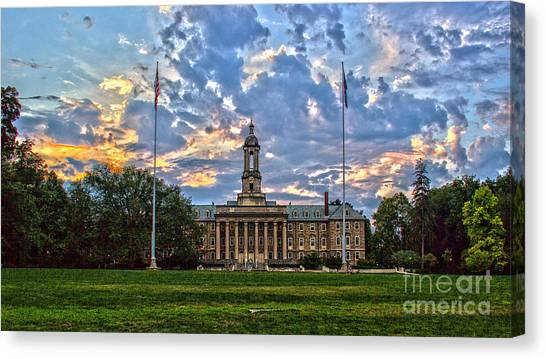 Pennsylvania State University Canvas Print - Old Main At Sunset by Tom Gari Gallery-Three-Photography