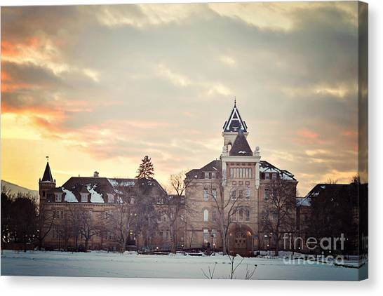 Utah State University Canvas Print - Old Main At Usu by Lindee Dorsey